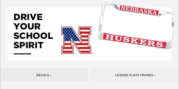 Husker License Plate Frame | Nebraska Decals & Car Mats