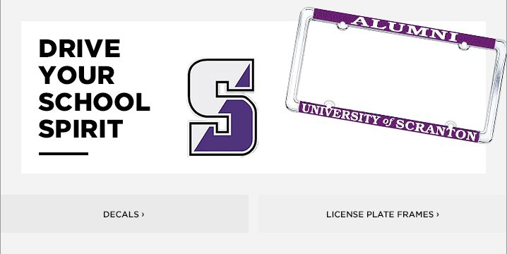 University Of Scranton License Plate Frames, Car Decals, and Stickers