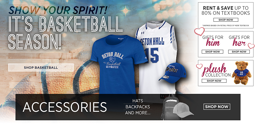 Show your spirit! It's basketball season! Shop Basketball. Textbooks. Right books. Right price. Right now. Shop now. Gifts For Her. Shop Now. Gifts For Him. Shop Now. Plush Collection. Shop Now.
