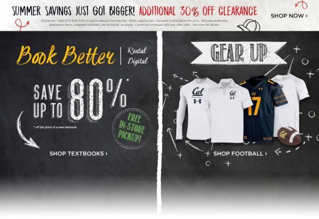 Shop Textbooks And 30% Off Clearance