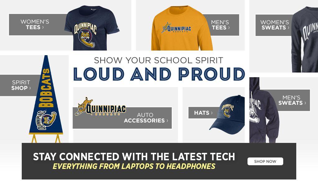 Show your school spirit loud and proud.  Shop Women's Tees. Shop Men's Tees. Shop Backpacks and Bags. Shop Hats.  Shop Accessories.