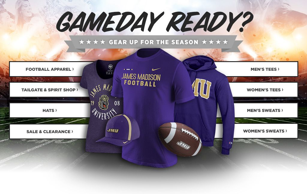 GameDay Ready?  Gear Up For The Season.  Shop Football Apparel. Shop Men's Tees.  Shop Tailgate & Spirit Shop.  Shop Women's Tees.  Shop Hats.  Shop Men's Sweats.  Shop Sale & Clearance.  Shop Women's Sweats.