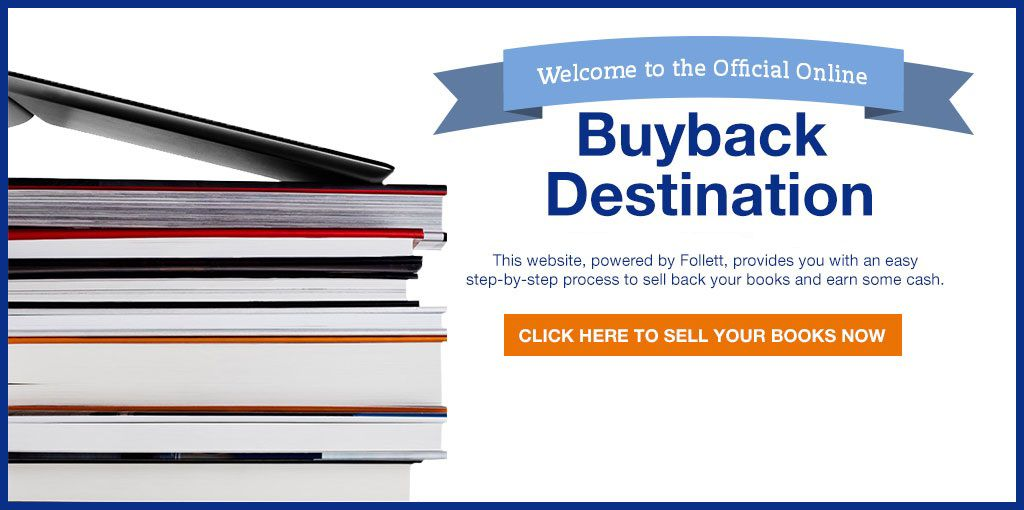 Welcome to the official source for summer textbooks. Classbook and Follett are now one! This website, powered by Follett, provides you with an easy step-by-step process to sell back your books and earn some cash. Click here to sell your books now.