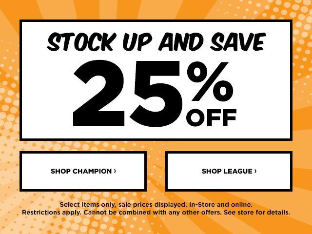 Shop Champion and League