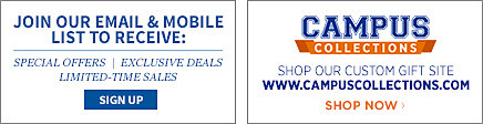 Join our email and mobile list for exclusive offers. Visit our partner site for custom apparel and gifts!