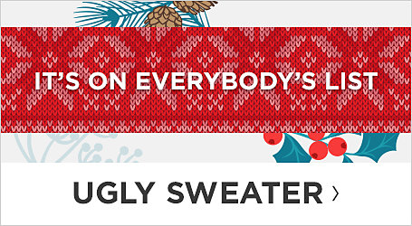 Ugly Sweaters. Shop Now.