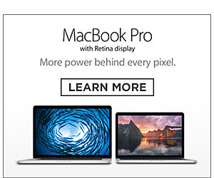 MacBook Pro with Retina Display. More power behind every pixel. Learn More.