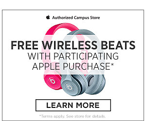 Free wireless Beats with participating Apple purchase. Click here to learn more. Terms apply. See store for details.
