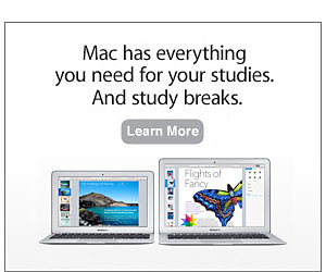 Mac has everything you need for your studies. And study breaks. Learn more.