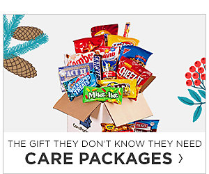 Care Packages. Shop Now.