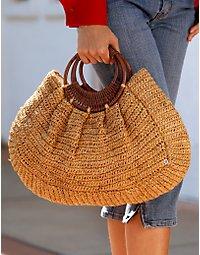 Bahama raffia handbag. > Boston Proper > bostonproper.com