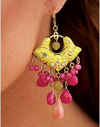 Semiprecious chandelier earrings. > Boston Proper > bostonproper.com :  bostonproper catalog fashion trends bostonporpercom online shopping