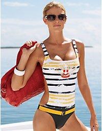Crested monokini swimsuit. > Boston Proper > bostonproper.com