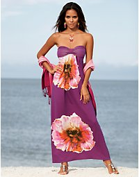 Fantastic floral maxi dress. > Boston Proper > bostonproper.com :  dresses bostonproper catalog boston proper womens apparel