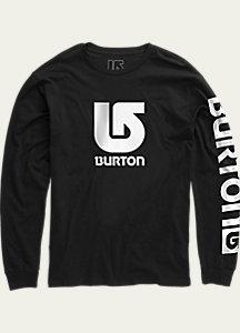Burton Boys' Logo Vertical Fill Long Sleeve T Shirt