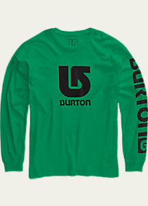 Burton Boys' Logo Vertical Fill Long Sleeve T Shirt