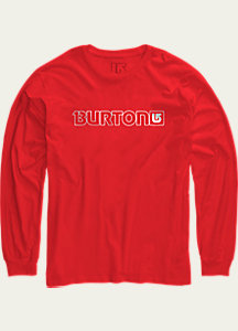 Burton Logo Horizontal Long Sleeve T Shirt