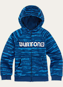 Burton Boys' Mini Bonded Full-Zip Hoodie