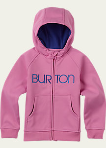 Burton Girls' Bonded Full-Zip Hoodie