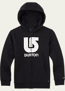 Burton Boys' Logo Vertical Full-Zip Hoodie