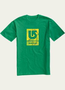 Burton Logo Vertical Fill Short Sleeve T Shirt