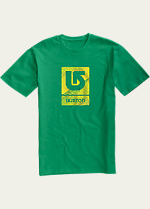 Burton Logo Vertical Fill Short Sleeve T Shirt