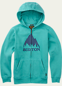 Burton Boys' Classic Mountain Full-Zip Hoodie