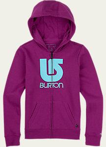 Burton Girls' Logo Vertical Full-Zip Hoodie