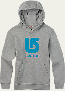 Burton Boys' Logo Vertical Pullover Hoodie