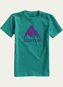 Burton Boys' Classic Mountain Short Sleeve T Shirt