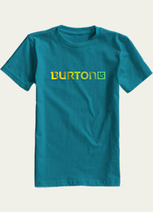 Burton Boys' Logo Horizontal Short Sleeve T Shirt
