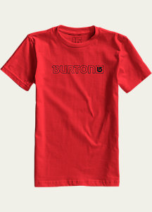 Burton Boys' Logo Horizontal Short Sleeve T Shirt