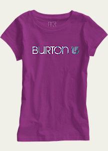 Burton Girls' Her Logo Short Sleeve T Shirt