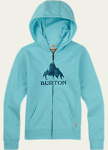 Burton Girls' Stamped Mountain Full-Zip Hoodie
