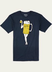 Burton Wish You Were Beer Slim Fit Short Sleeve T Shirt