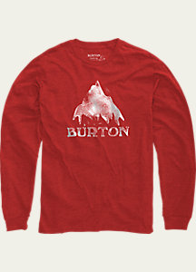 Burton Stamped Mountain Long Sleeve T Shirt