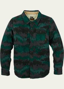 Burton Boys' Mill Long Sleeve Woven Shirt