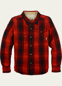 Burton Boys' Mill Long Sleeve Woven Shirt