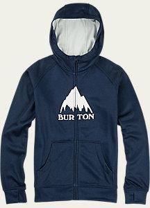 Burton Boys' Oak Bonded Full-Zip Hoodie