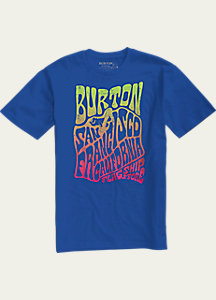 Burton San Francisco Poster Short Sleeve Slim Fit T Shirt