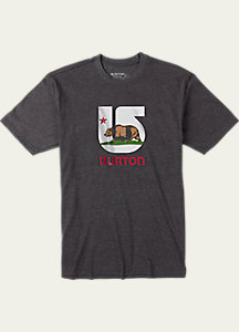 Burton California Flag Short Sleeve Slim Fit T Shirt