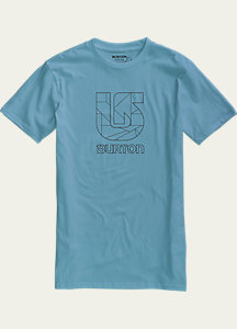 Burton Logo Vertical Slim Fit Short Sleeve T Shirt