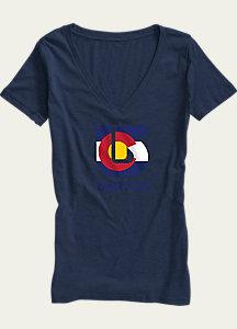 Burton Colorado Flag Process V-Neck T Shirt