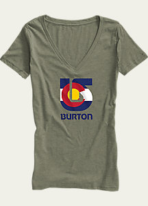 Burton Colorado Flag Process V-Neck T Shirt