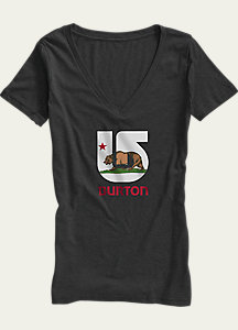 Burton California Flag V-Neck T Shirt