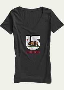 Burton California Flag V-Neck T Shirt
