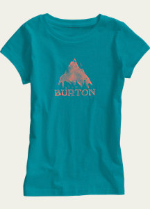 Burton Girls' Stamped Mountain Short Sleeve T Shirt