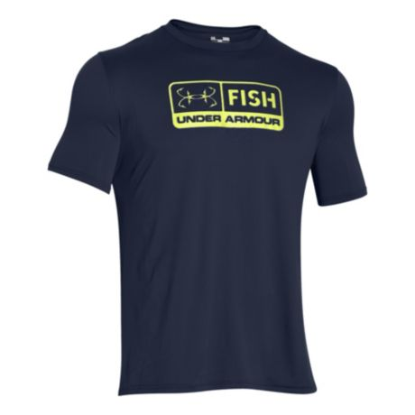 Under armour ua fish tech short sleeve t shirt cabela 39 s for Under armour shirts canada