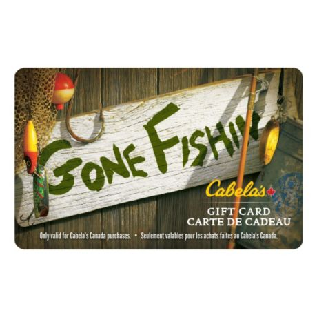 Cabela's Canada Gift Card - Gone Fishing