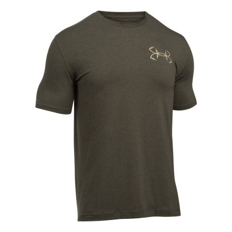 Under armour bass strike short sleeve t shirt cabela 39 s for Under armour shirts canada